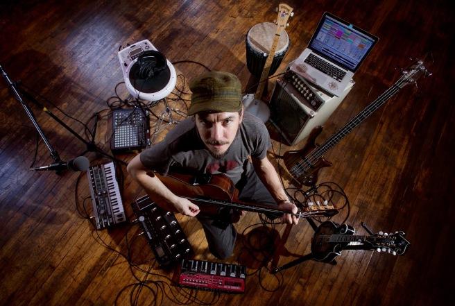 Multi-instrumentalist Ryan Herr; photo by Mollie Hull; seenimagery.com